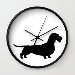 Wirehaired Dachshund Silhouette Wall Clock