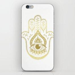 Hamsa Hand - Gold iPhone Skin