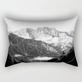 Crystal Mountain (black) Rectangular Pillow