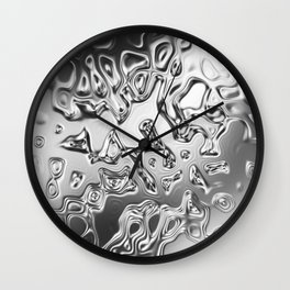 Holographic Abstract Waves - Comet Wall Clock