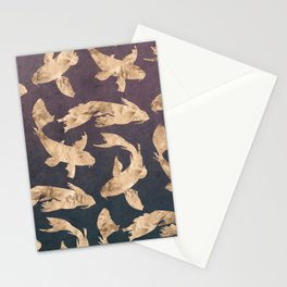 Gold Ocean Stationery Cards