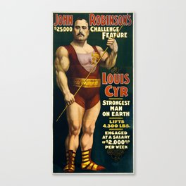 Strongest Man On Earth - Vintage Strongman Canvas Print