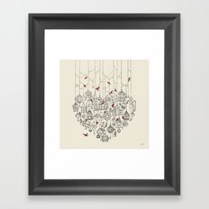 Out of the cage Framed Art Print