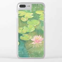 Lily Pond Clear iPhone Case