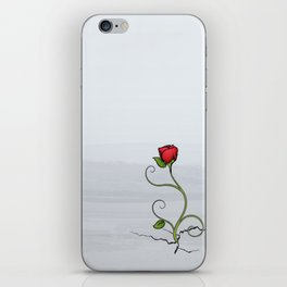 The Rose that Grew from Concrete iPhone Skin