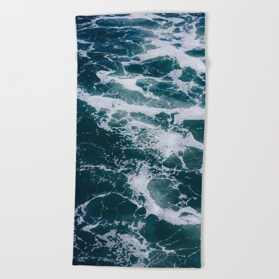 Ocean Marble #texture Beach Towel