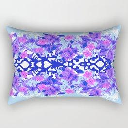 Baroque Blue Rectangular Pillow