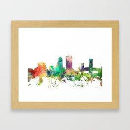 Jacksonville, Florida skyline SP Framed Art Print