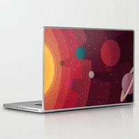 solar system Laptop & iPad Skins featuring Solar System by badOdds