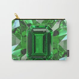 EMERALD GREEN MAY BIRTHSTONES ART Carry-All Pouch