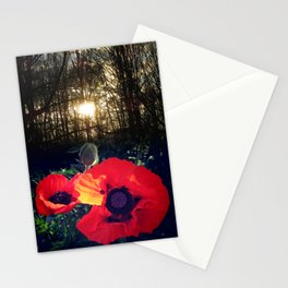 Poppy Allegro Oriental Poppies Ornamental Perennial Red Flower Stationery Cards