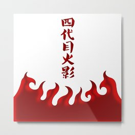 Hokage Top Metal Print