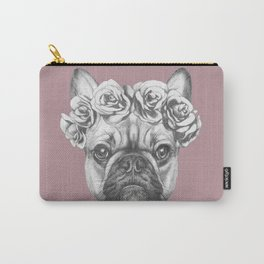 Pink Frenchie Carry-All Pouch