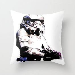 Paper Trooper Throw Pillow