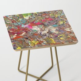 Abstract Acrylic Palette Knife painting Side Table