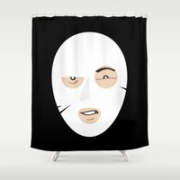 mask Shower Curtains featuring Mask by richoz