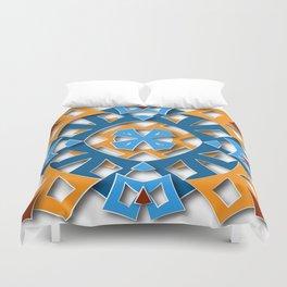aztec mandala sun blue Duvet Cover