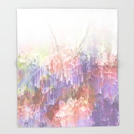 Frozen Magical Nature - Peach and Ultra-Violet Throw Blanket
