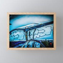 Open Canopy Of A Modern Fighter Aircraft Cockpit Framed Mini Art Print