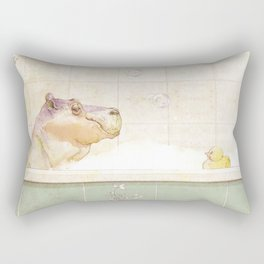 Hippo in the bath Rectangular Pillow