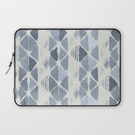 Simply Braided Chevron Indigo Blue on Lunar Gray Laptop Sleeve
