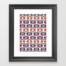 Gypsy Floral on White Framed Art Print