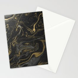 marble black and gold paper texture Stationery Cards