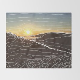 Sunrise Goat Rock 1 Throw Blanket