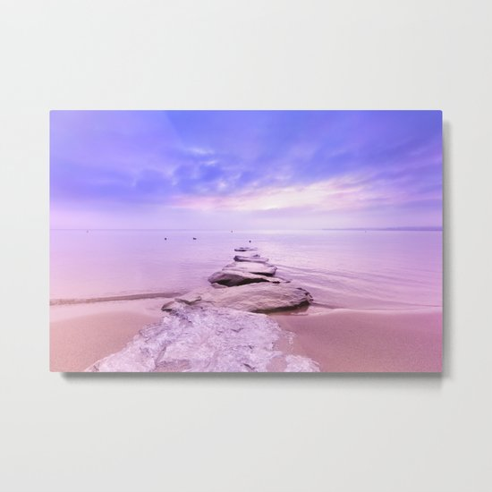 Rock the Sunset Landscape Metal Print