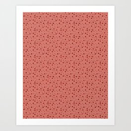 Salmon Rain Dot Pattern Art Print