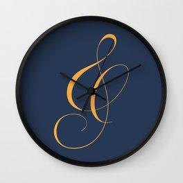 Nautica's Ampersand Wall Clock