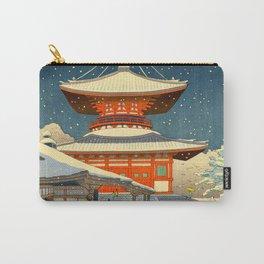 Asano Takeji Views of Wakayama Koyasan Nemoto Big Pagoda Japanese Woodblock print Carry-All Pouch
