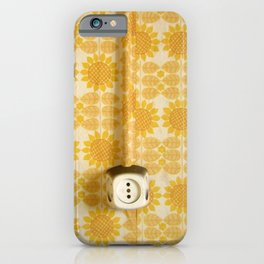 Vintage Sunflowers Pattern of GDR with Socket  iPhone Case