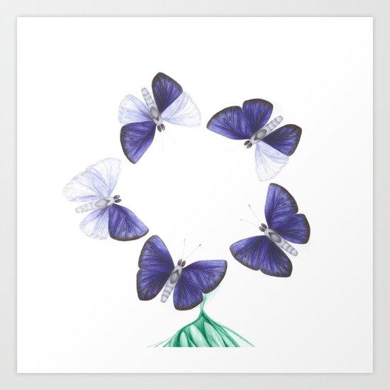 Papilio angelus (circle version) Art Print