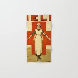 Vintage poster - Red Cross Hand & Bath Towel
