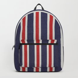De rayas azules y rojas Backpack