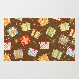 Christmas gifts pattern 10 Rug