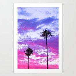Palm skies Art Print