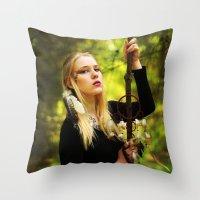 witchcraft Throw Pillows featuring Witchcraft by Aleksandra Walczak