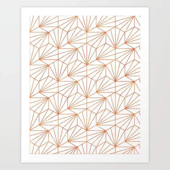 Rose Gold & White #society6 #decor #buyart Art Print