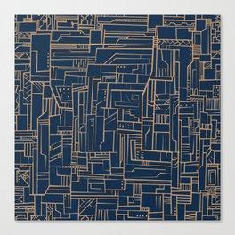 Electropattern Canvas Print
