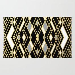 Art Deco Grey Gold Rug