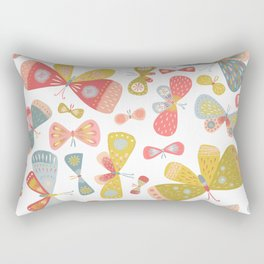 Butterfly Tango Light Rectangular Pillow