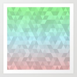 Pastel Ombre 2 Art Print