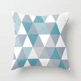 Rombi light blue Throw Pillow