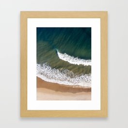 Breaking Waves - Aerial Drone Photography Framed Art Print