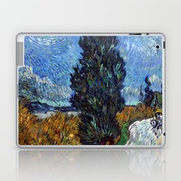 Vincent van Gogh - Road with Cypress and Star Laptop & iPad Skin