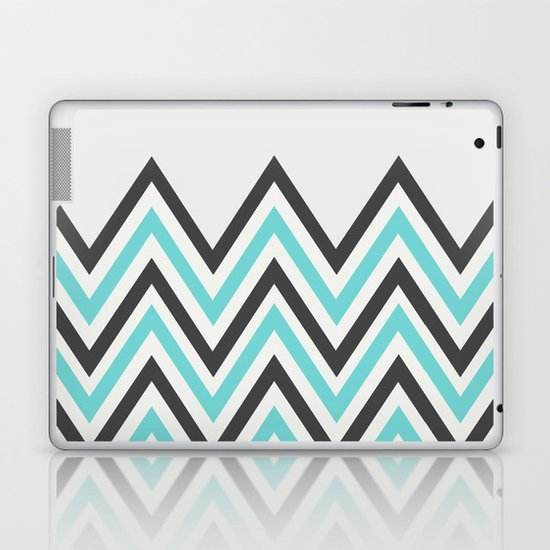 BLUE CHEVRON Laptop & iPad Skin