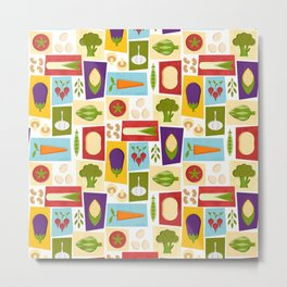 Farm to Table_pattern Metal Print