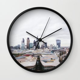 City View of the Financial District of London from St. Paul's Cathedral Wall Clock